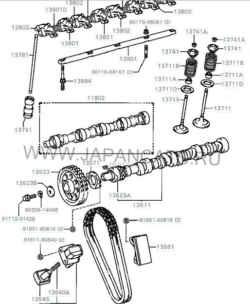 схема системы управления двигателем 3y-eu toyota surf